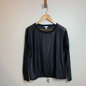 Calvin Klein Shimmer Mesh Sweater